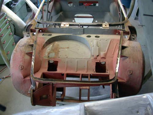 Body shine removed Simca Abarth 2000