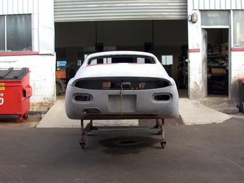Ready for the paint shop Simca Abarth 2000